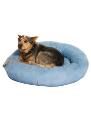 Kakadu Pet Plump Donut Bolster Bed in Chambray