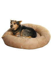 Kakadu Pet Plump Donut Bolster Bed in Sand