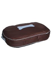 Kakadu Pet Urban Pillow Bed In Chocolate Duck Egg